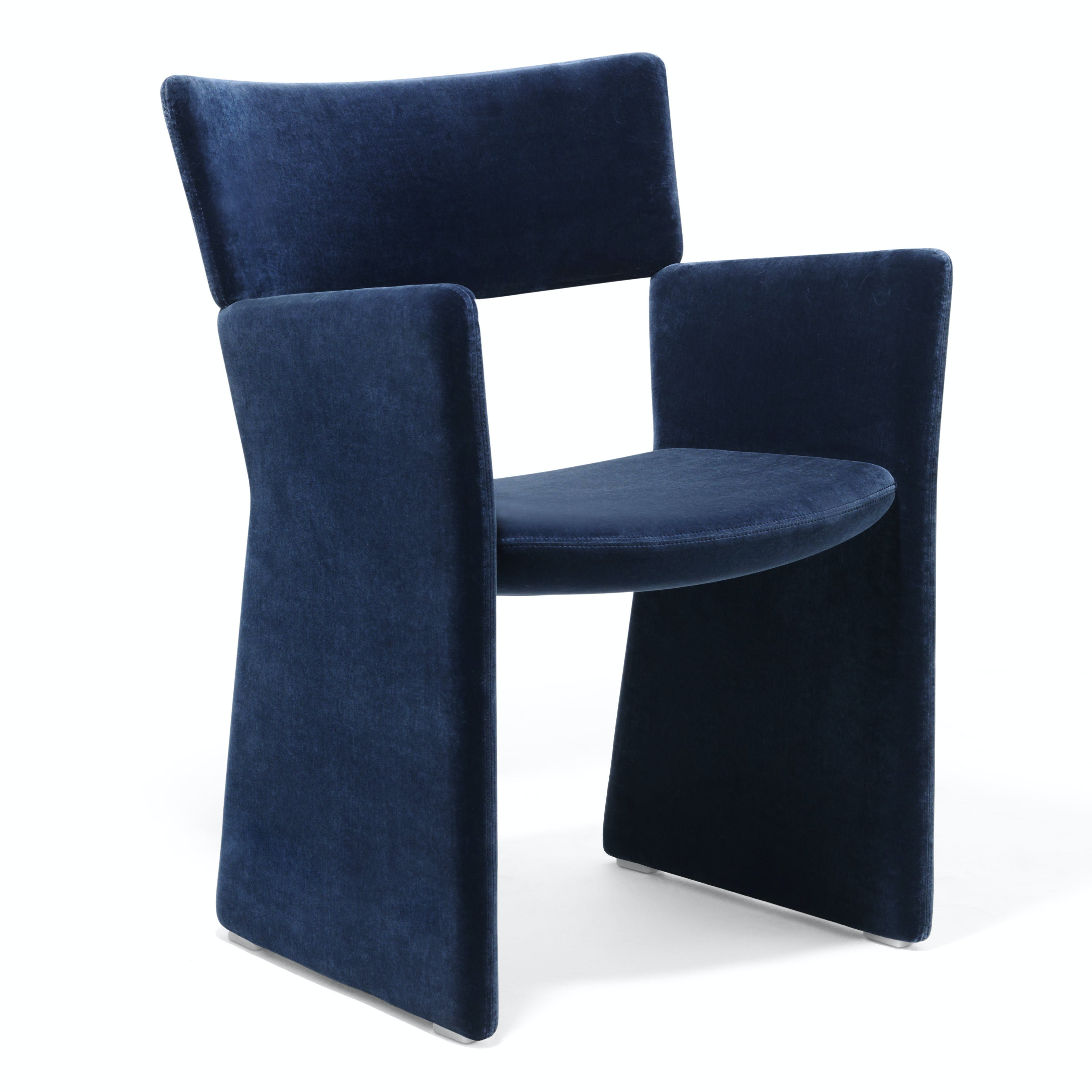 Massproductions Crown Armchair Blue Angle Haute Living