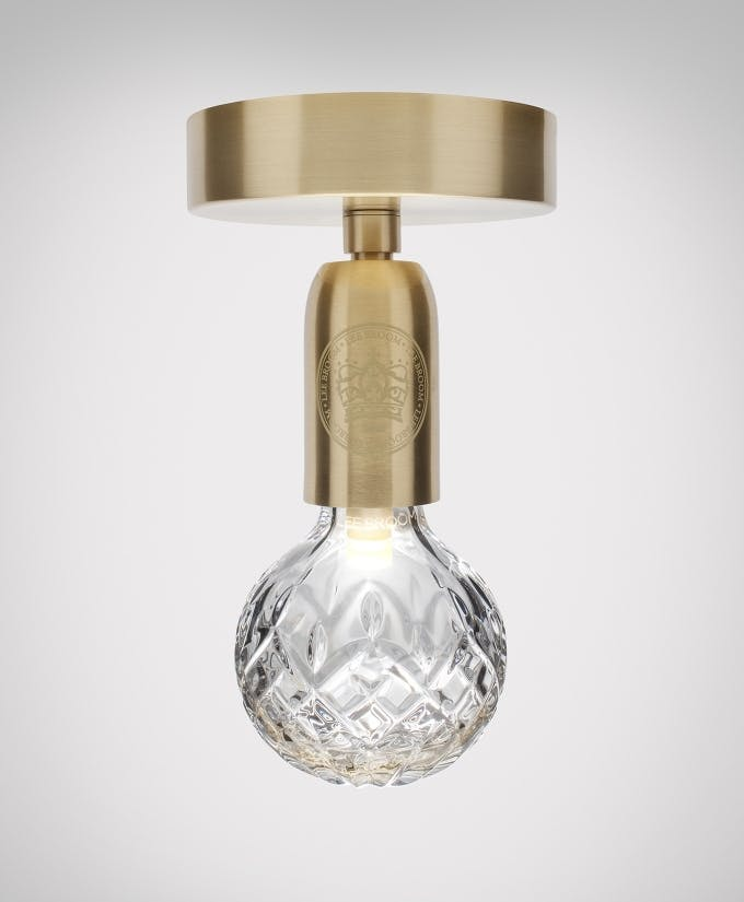 lee broom crystal bulb ceiling light haute living