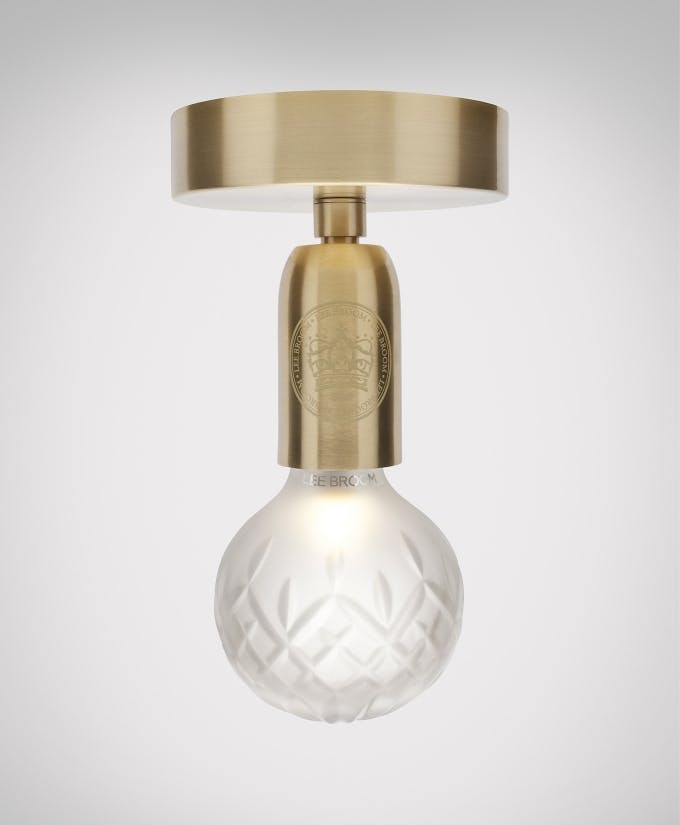 lee broom frosted crystal bulb ceiling light