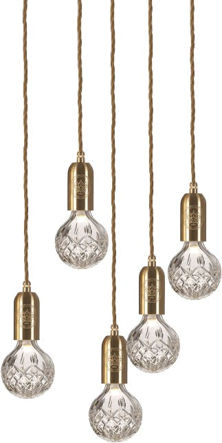 lee broom crystal bulb chandelier haute living