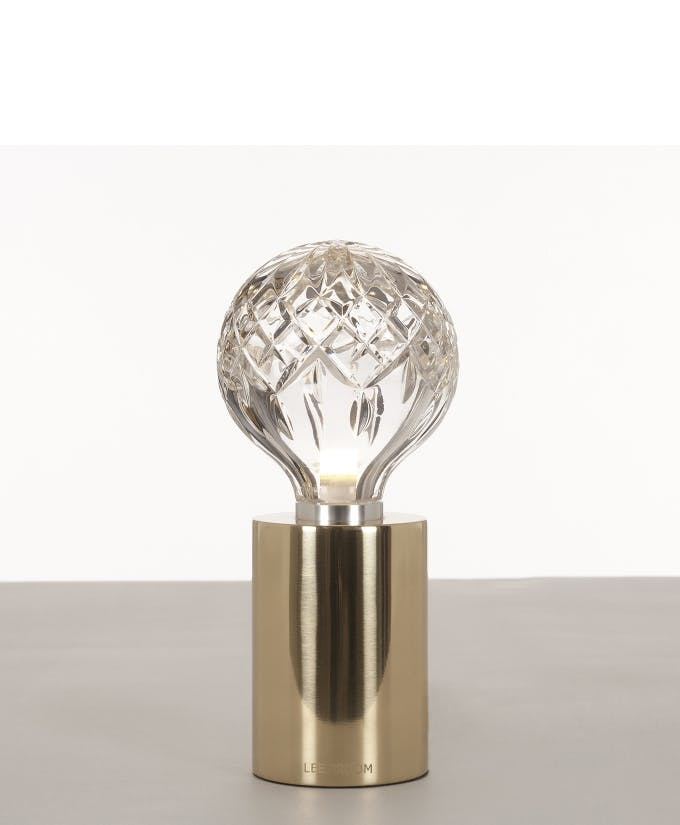 Croppedimage680825 Clear Crystal Bulb Polished Gold Table Lamp Studio