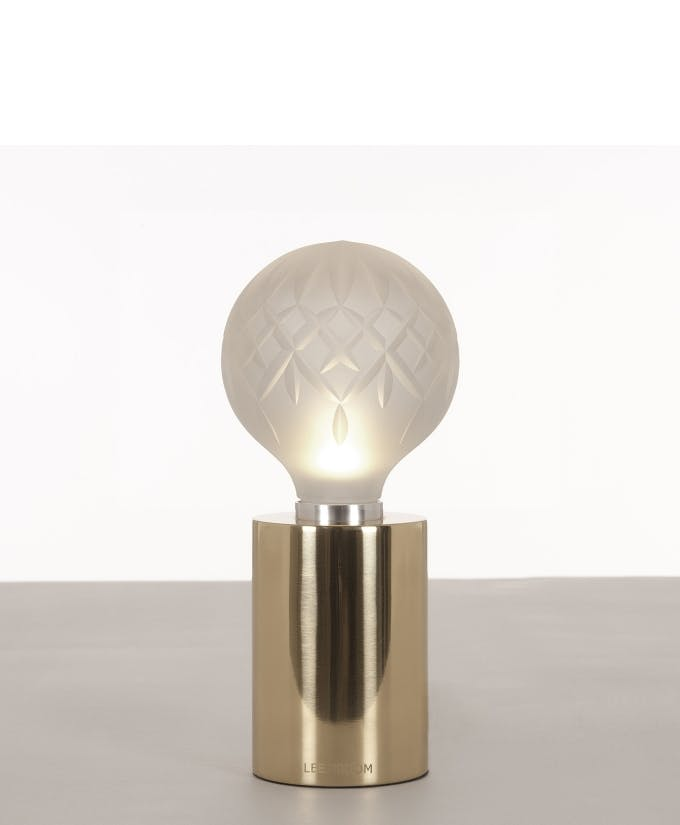 Croppedimage680825 Frosted Crystal Bulb Polished Gold Table Lamp Studio