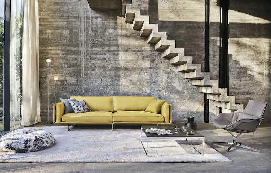 Jab Anstoetz Yellow Cube Air Sofa Insitu Haute Living