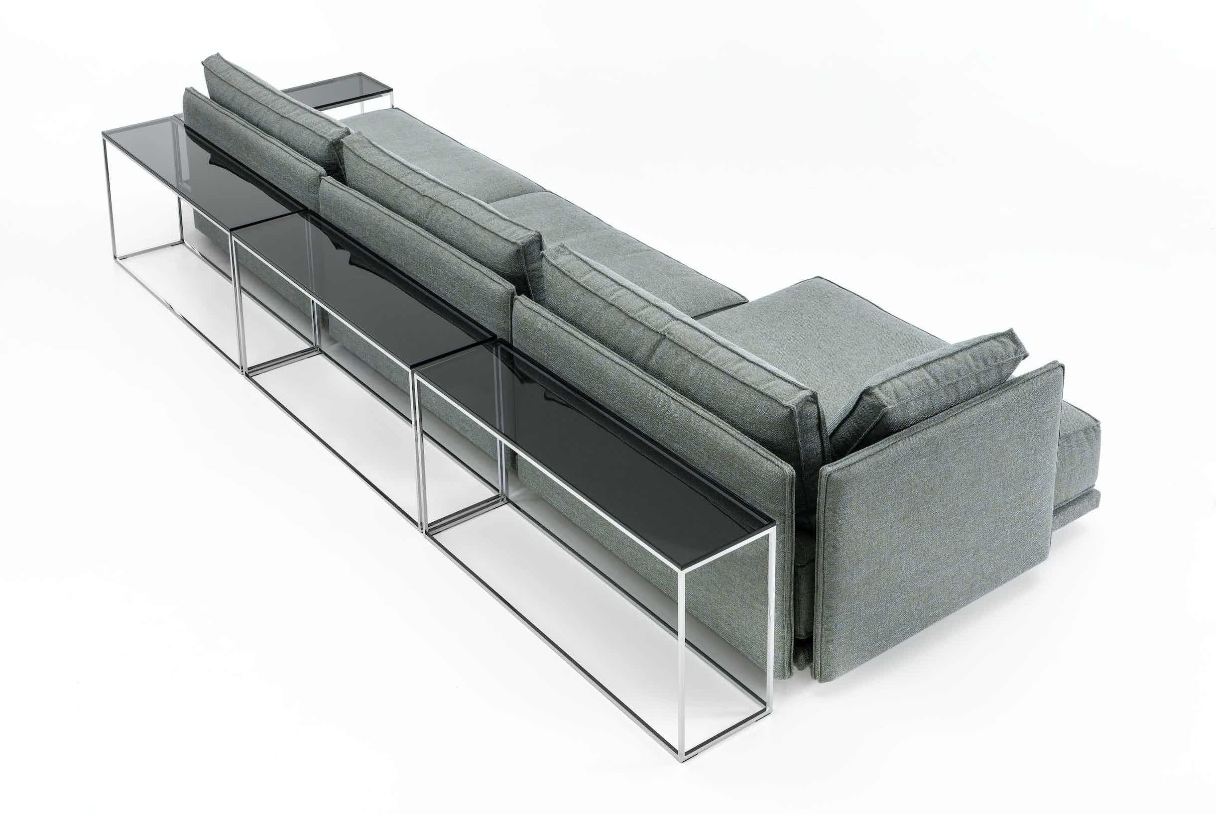 Jab Anstoetz Grey Cube Lounge Modular Sofa With Table Haute Living