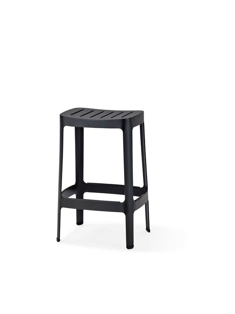 Cut Bar Chair Low Lava Grey