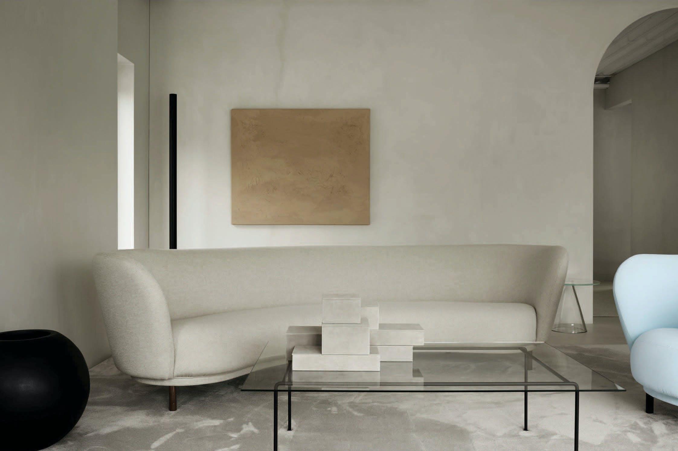 Massproductions Dandy Sofa Insitu White Haute Living