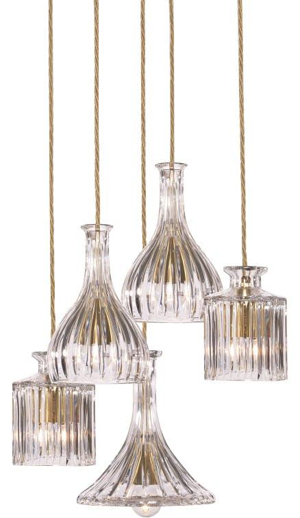 lee broom decanterlight chandelier haute living