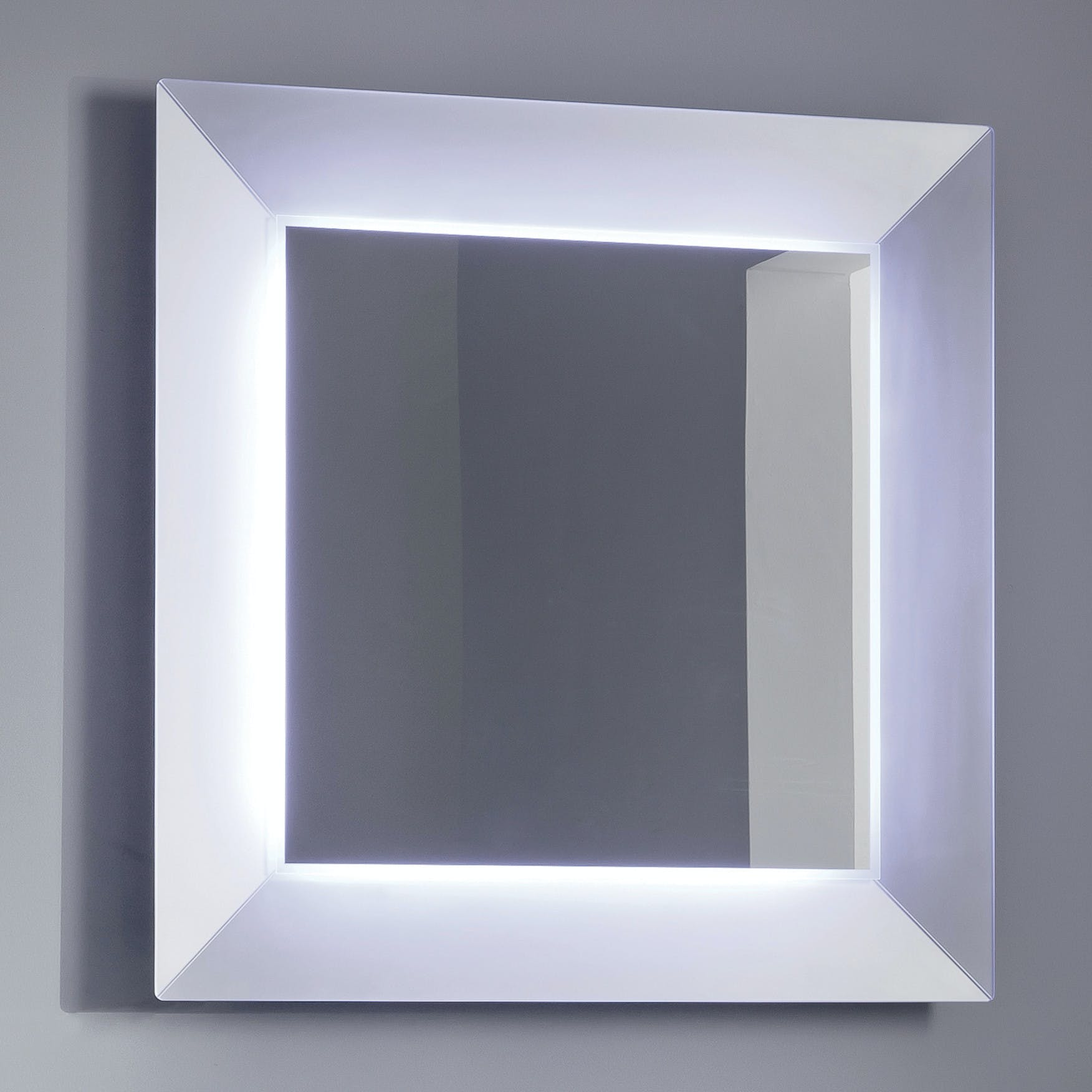 Denver Up Mirror With White Glass Border