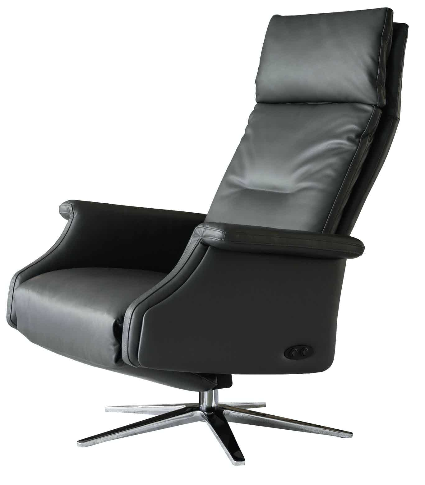Jab Anstoetz Black Leather Dexter Armchair Haute Living