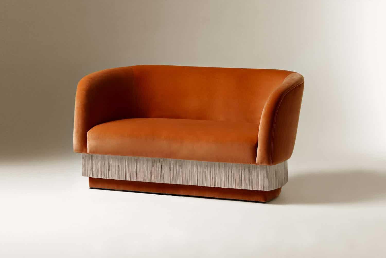 Dooq la folie settee dark orange haute living