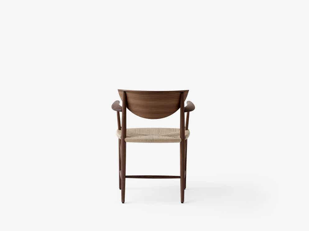 Andtradition drawn chair hm4 walnut back haute living