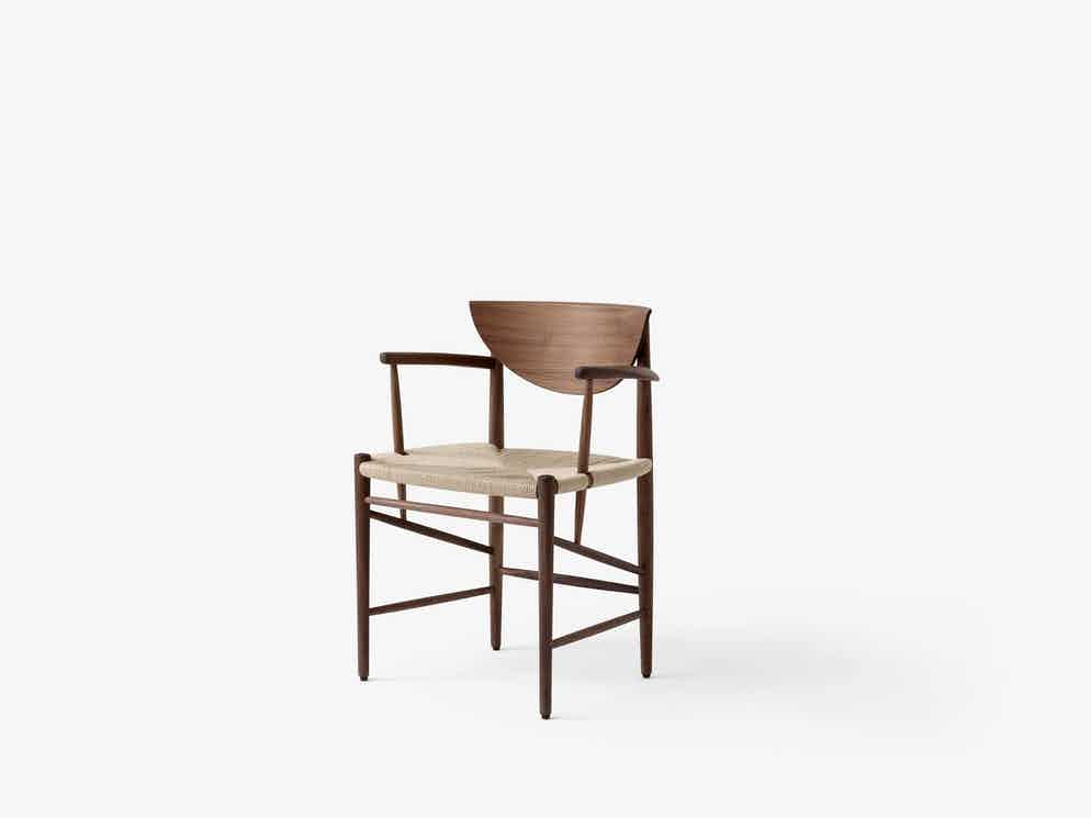 Andtradition drawn chair hm4 walnut haute living