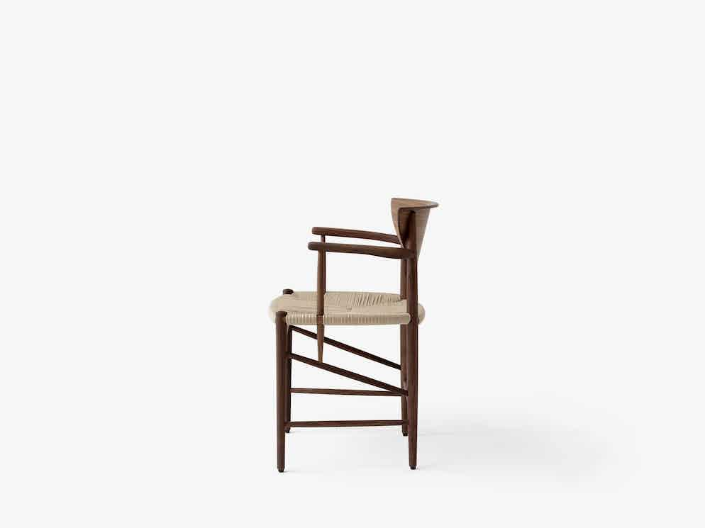 Andtradition drawn chair hm4 walnut side haute living