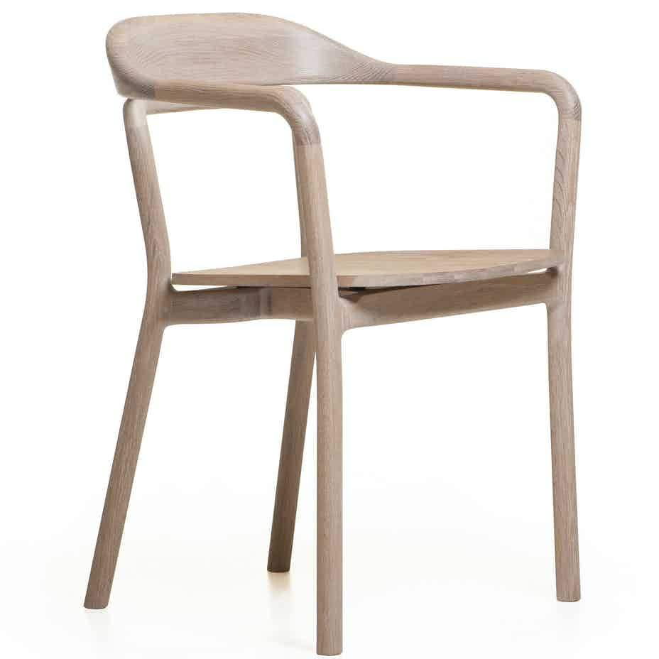 Duet Chair With Timber Seat By Neriandhu