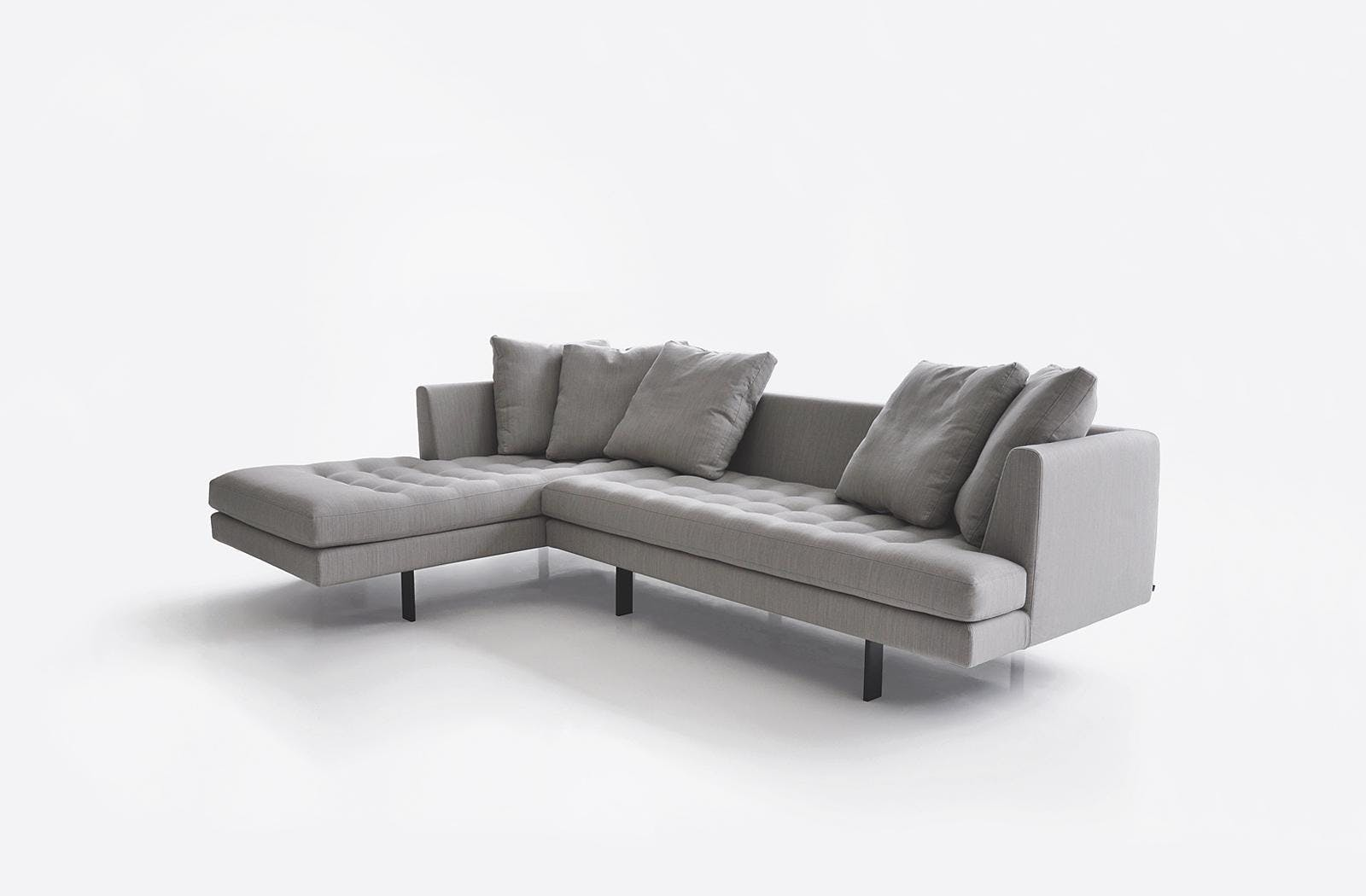 Bensen Grey Edward Sectional Sofa Angle