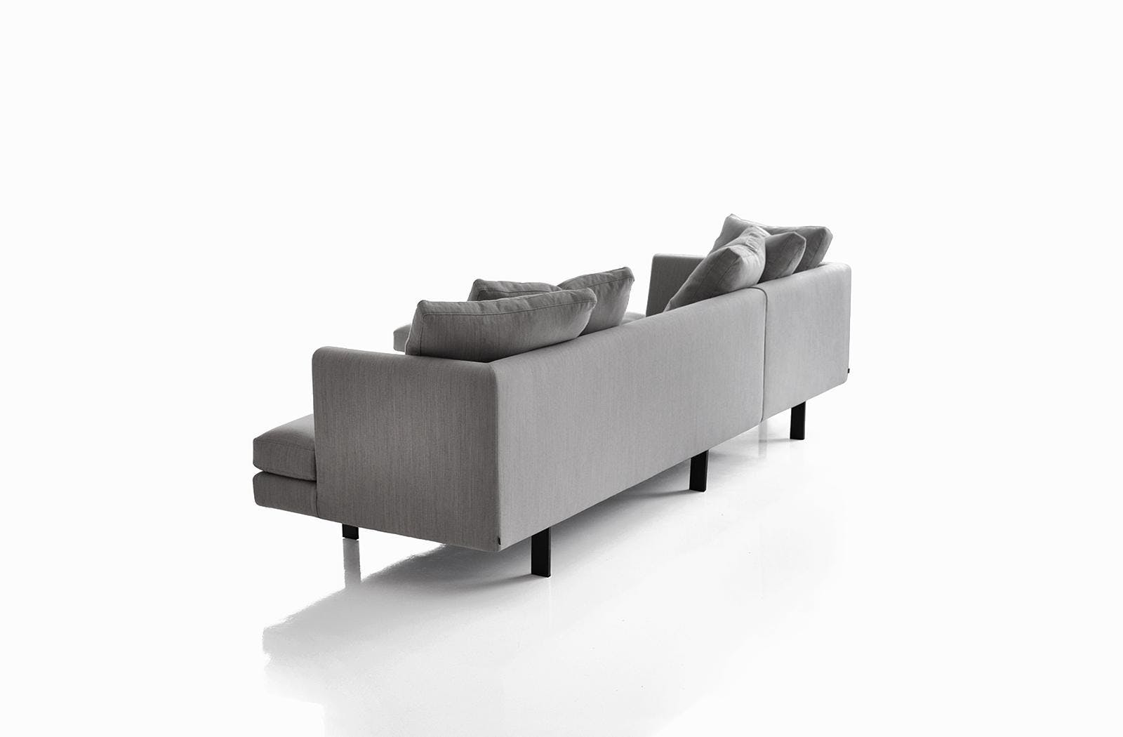 Bensen Grey Edward Sectional Sofa Back