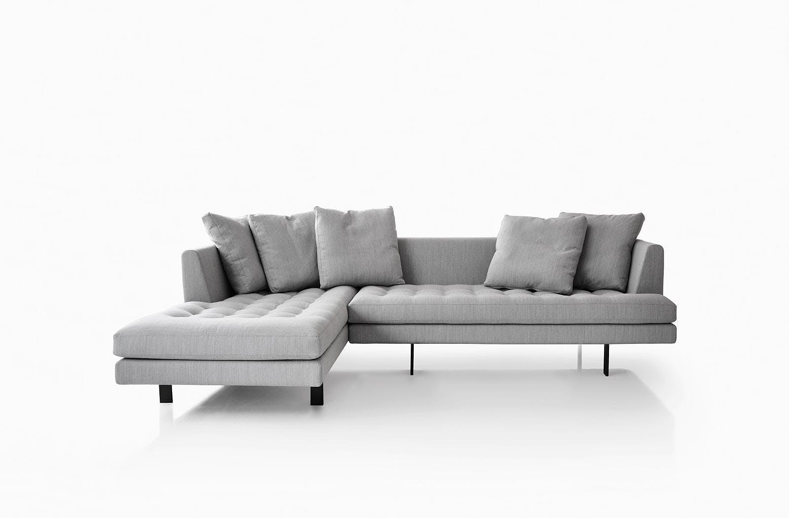 Bensen Grey Edward Sectional Sofa Front