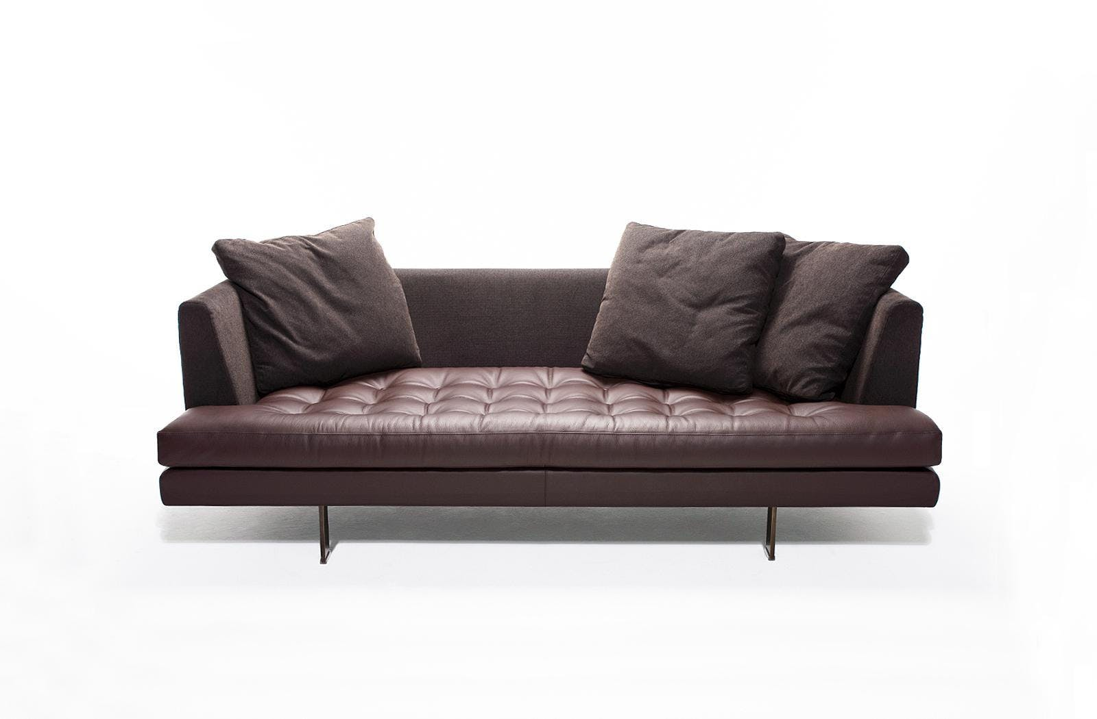 Bensen Brown Leather Edward Sofa Front