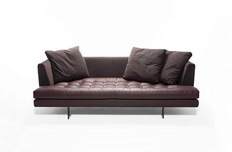 Bensen Brown Leather Edward Sofa Front