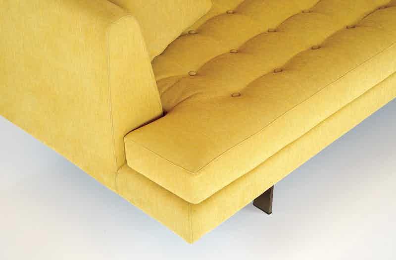 Bensen Yellow Edward Sofa Detail