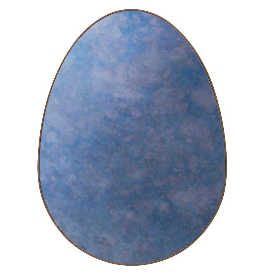 Bower Studios Egg Mirror Antique Cobalt Thumb