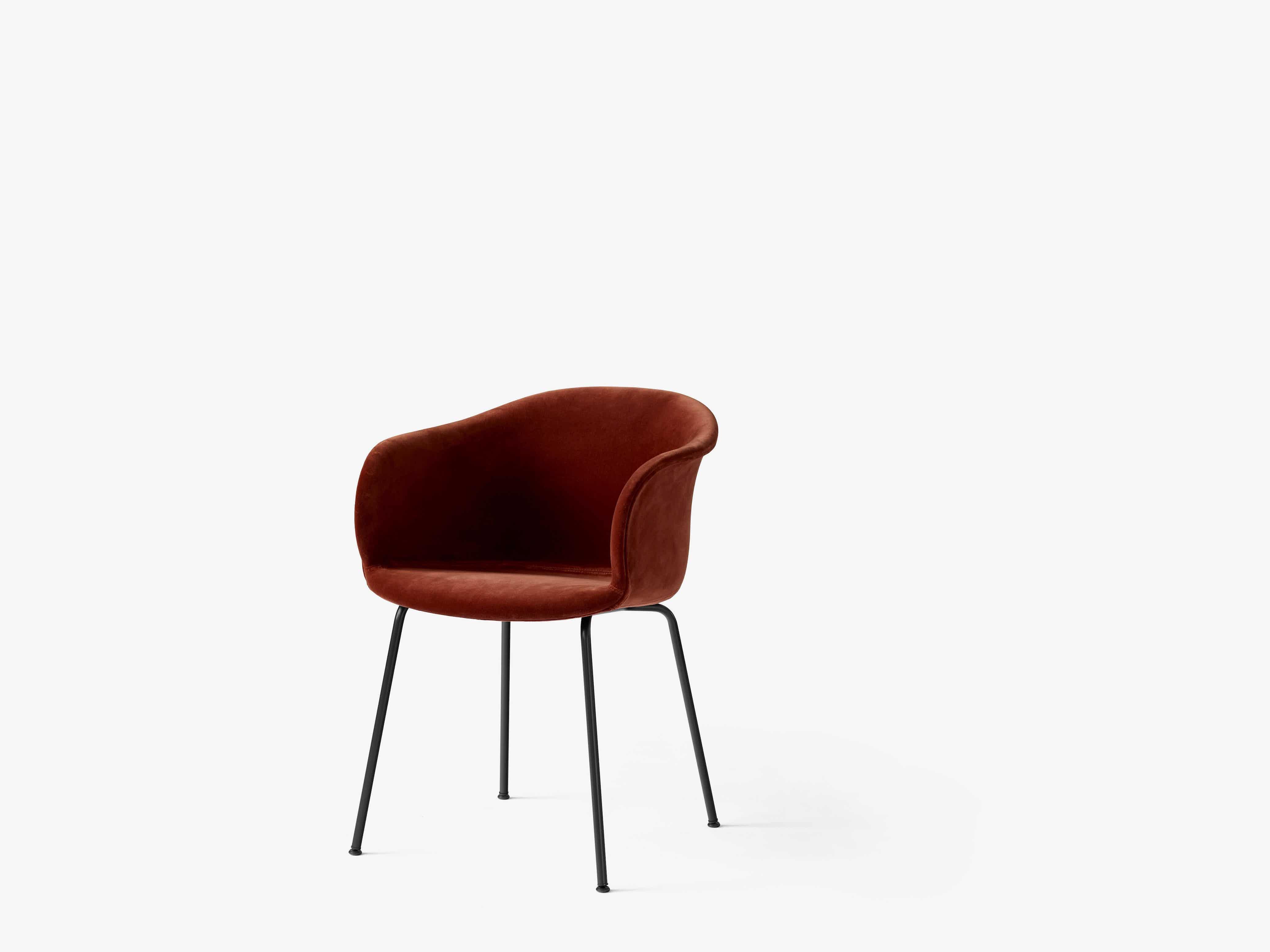 Andtradition-elefy-chair-velvet-black-metal-base-haute-living