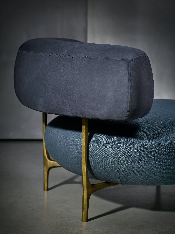 Piet Boon Blue Ella Armchair Detail Haute Living