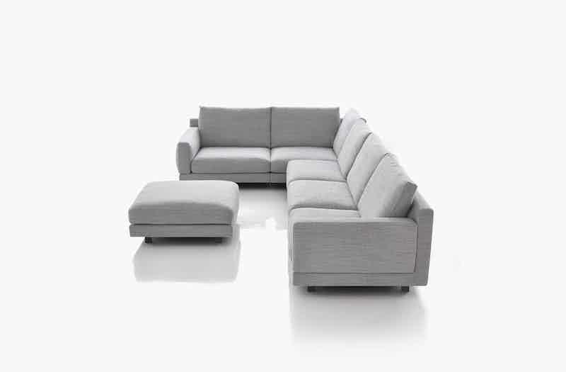Bensen Grey Elle Sectional Sofa Side
