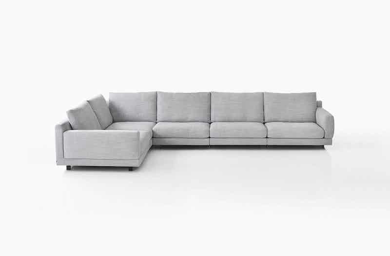 Bensen Grey Elle Sectional Sofa