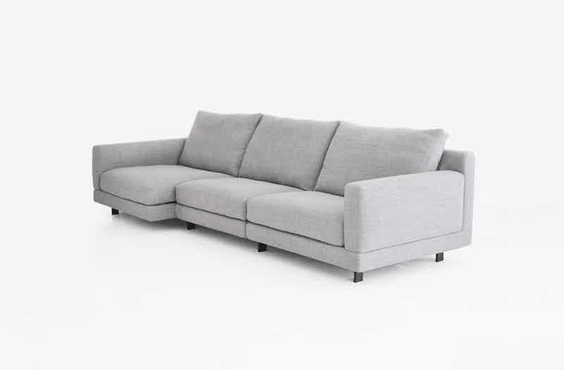 Bensen Grey Elle Sofa Angle