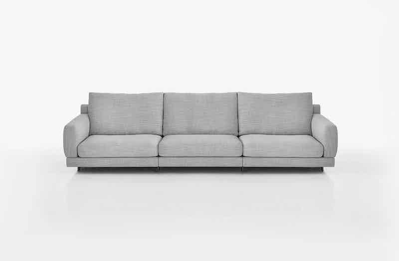 Bensen Grey Elle Three Seat Sofa