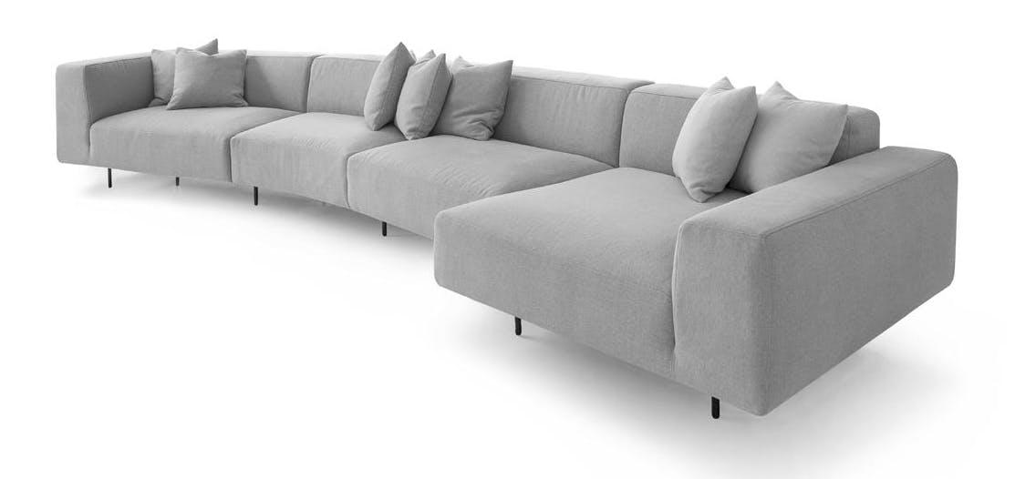 Bensen Grey Endless Sofa Side Vide