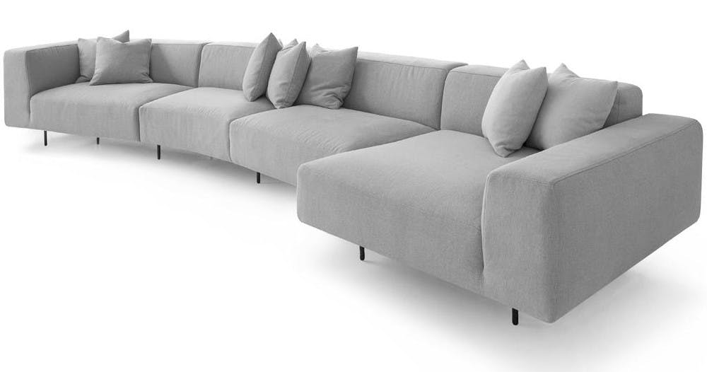 Bensen Grey Endless Sofa Side Vide