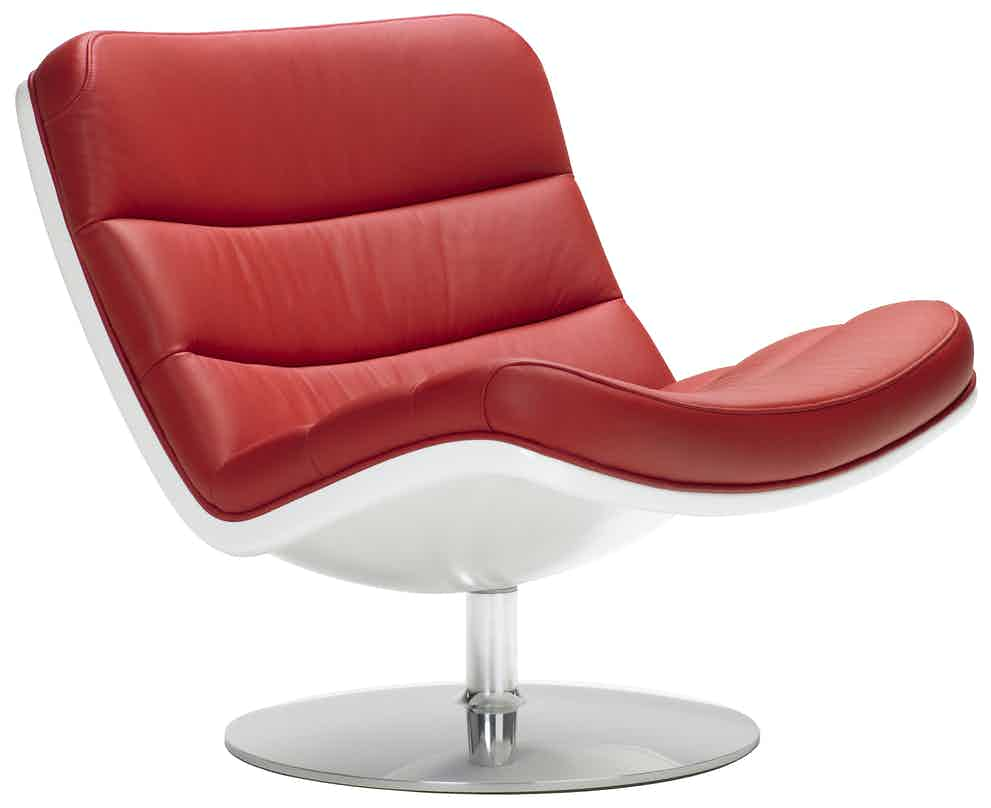 Artifort Red F978 Chair Angle Thumbnail