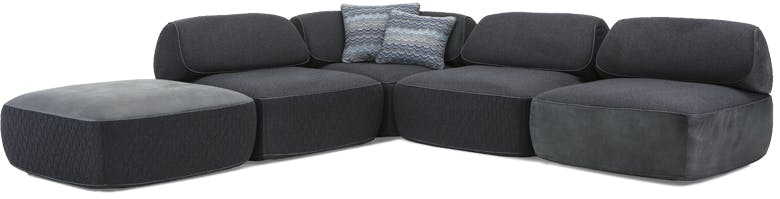 Jab Anstoetz Black Fat Tony Modular Sofa Haute Living