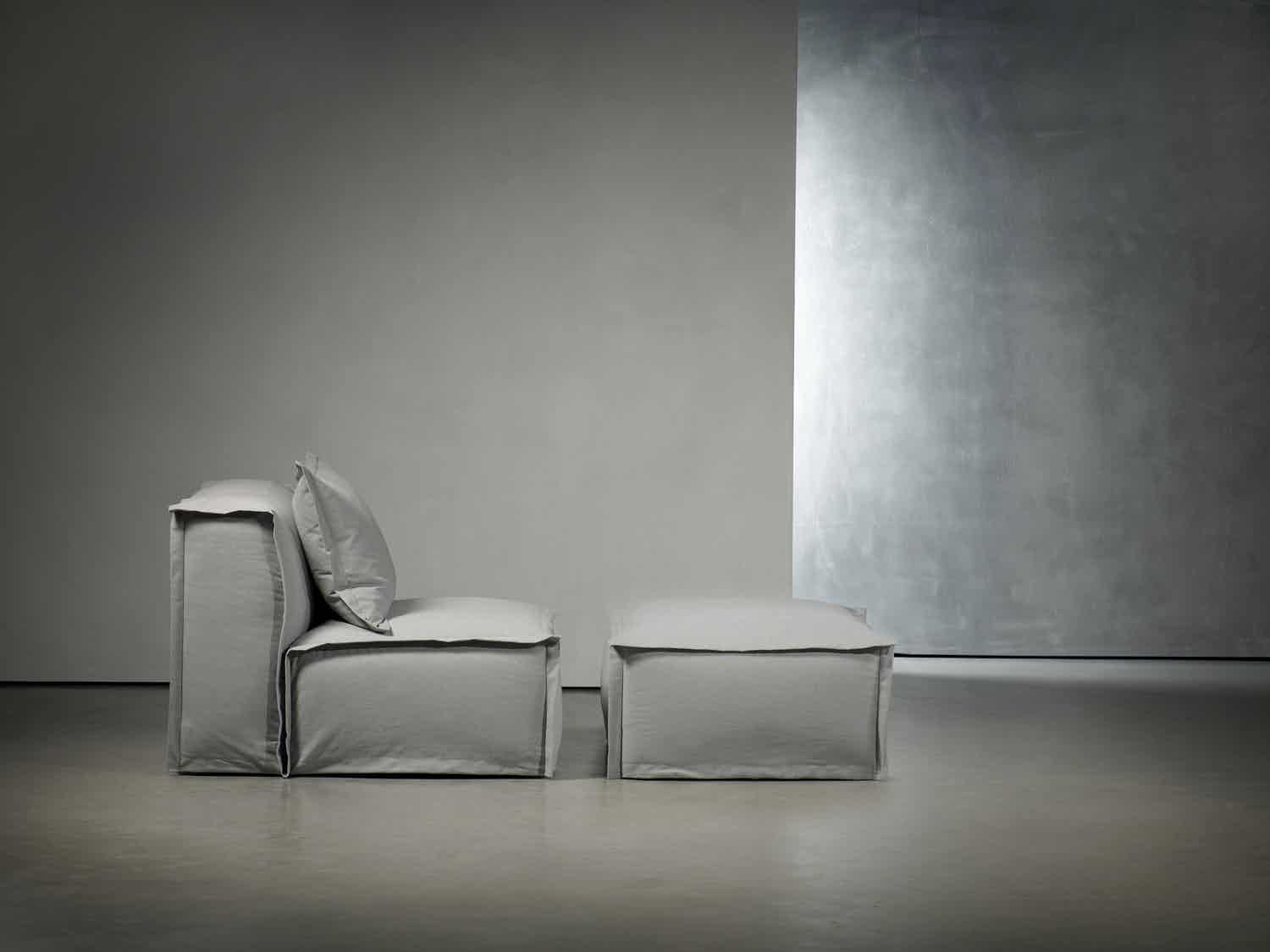 Piet Boon Fedde Armchair With Pouf Side Haute Living