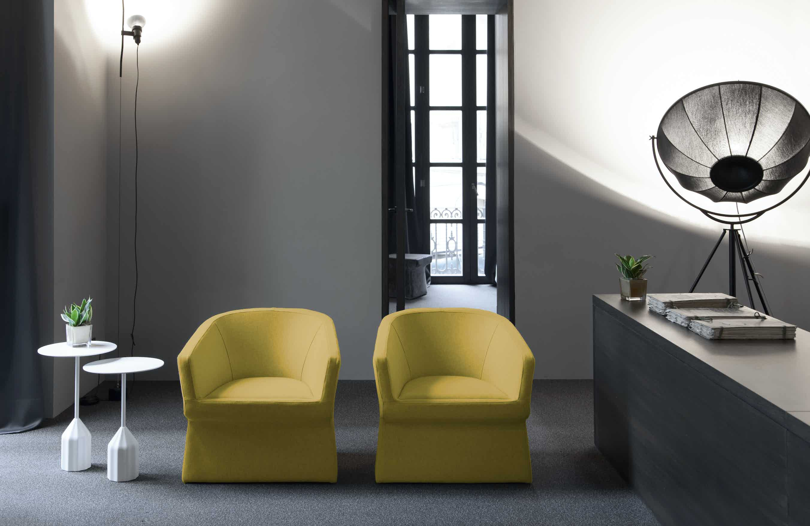 Viccarbe-front-yellow-fedele-armchair-institu-haute-living