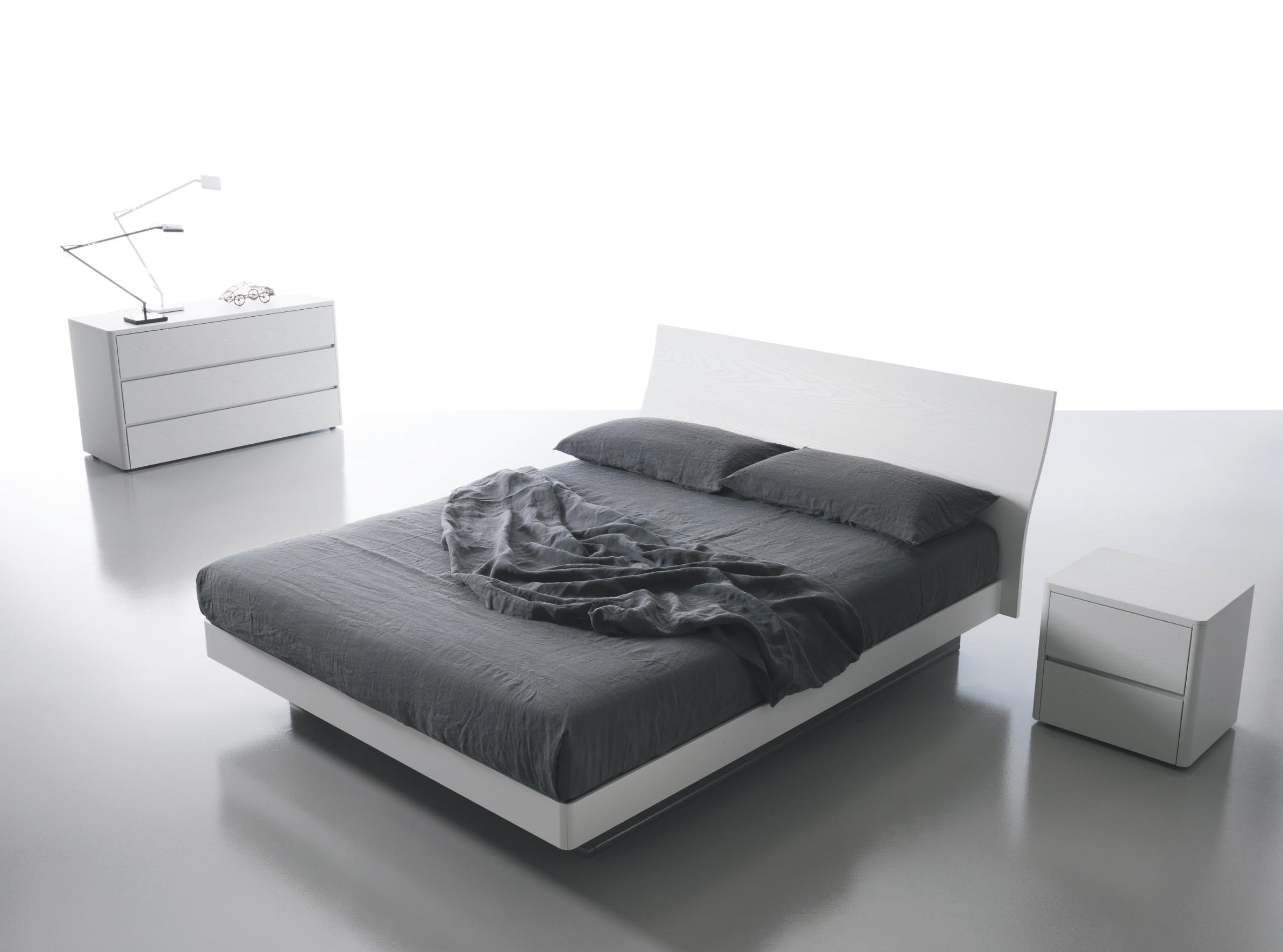 Caccaro Filesse Bed Grey Angle Haute Living