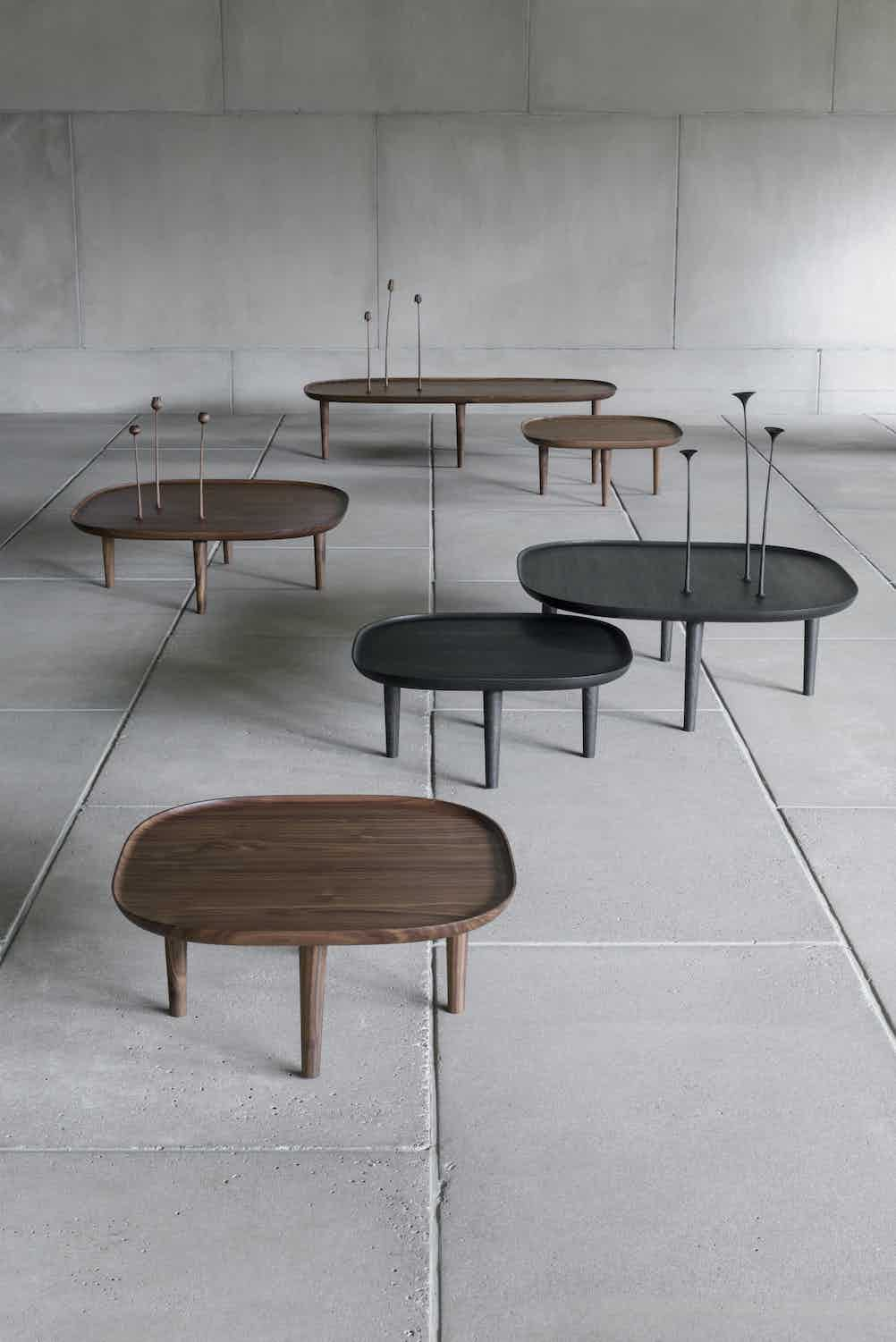 Poiat Fiori Tables Black Walnut Assorted Insitu Haute Living