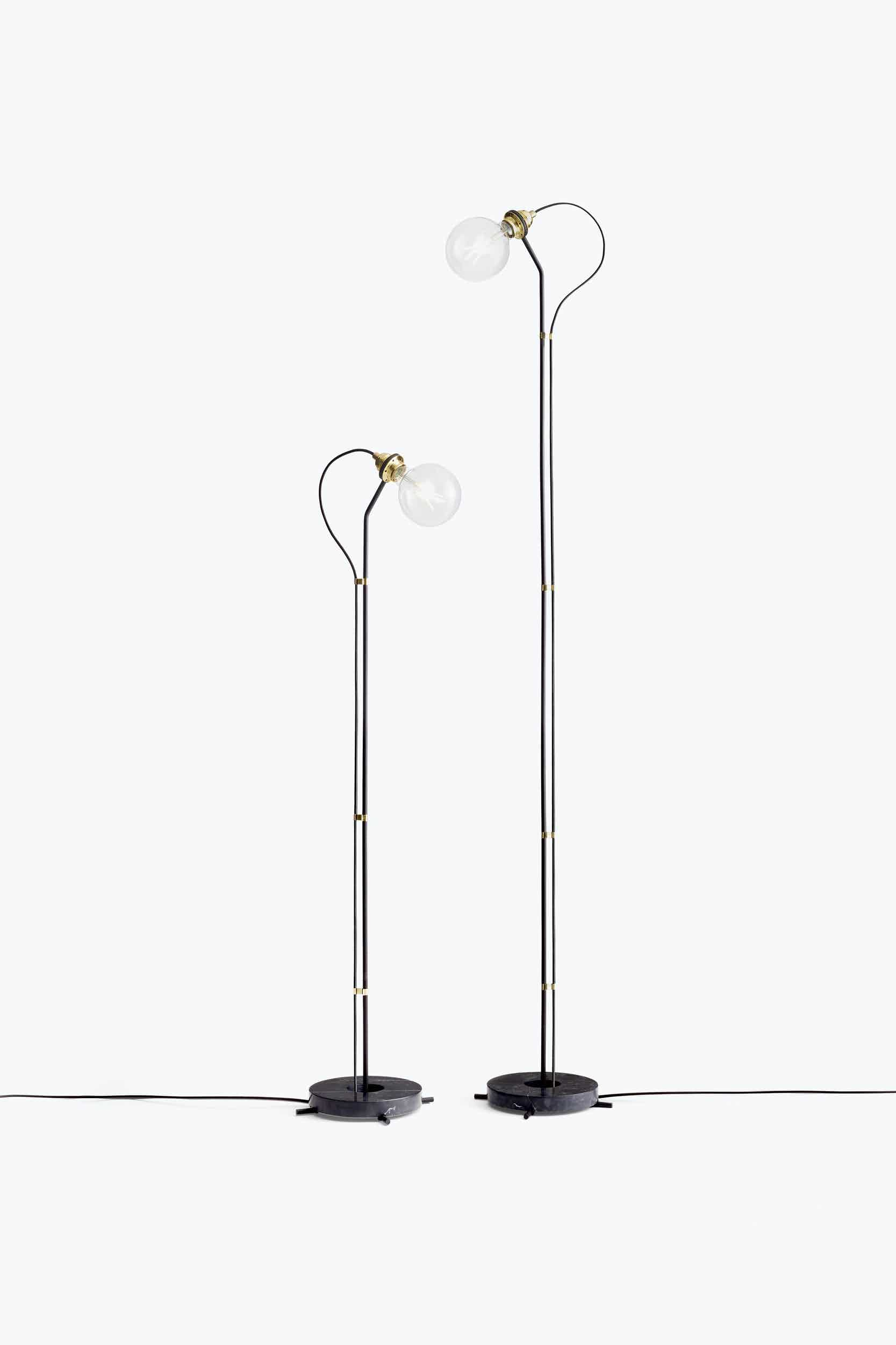 New works furniture five floor lamp black duo haute living