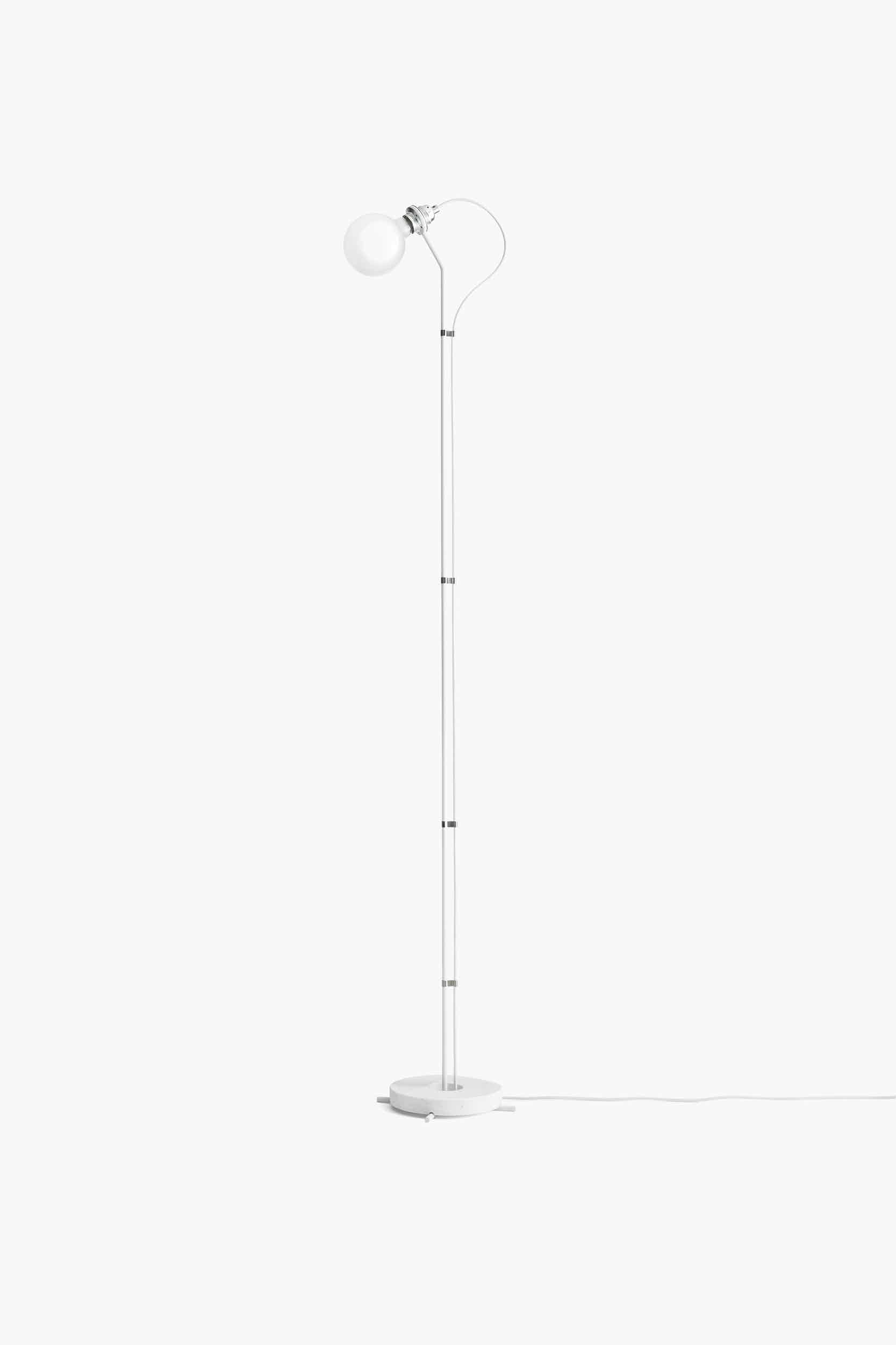 New works furniture five floor lamp white grey haute living