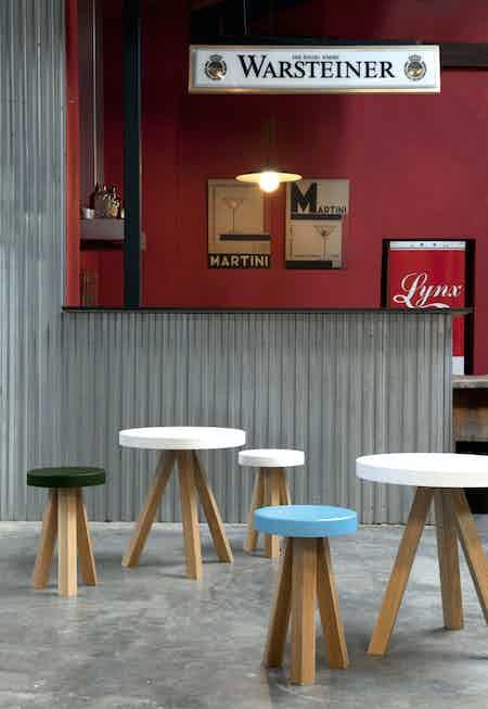 Punt Furniture Flak Insitu Stool Multi Haute Living