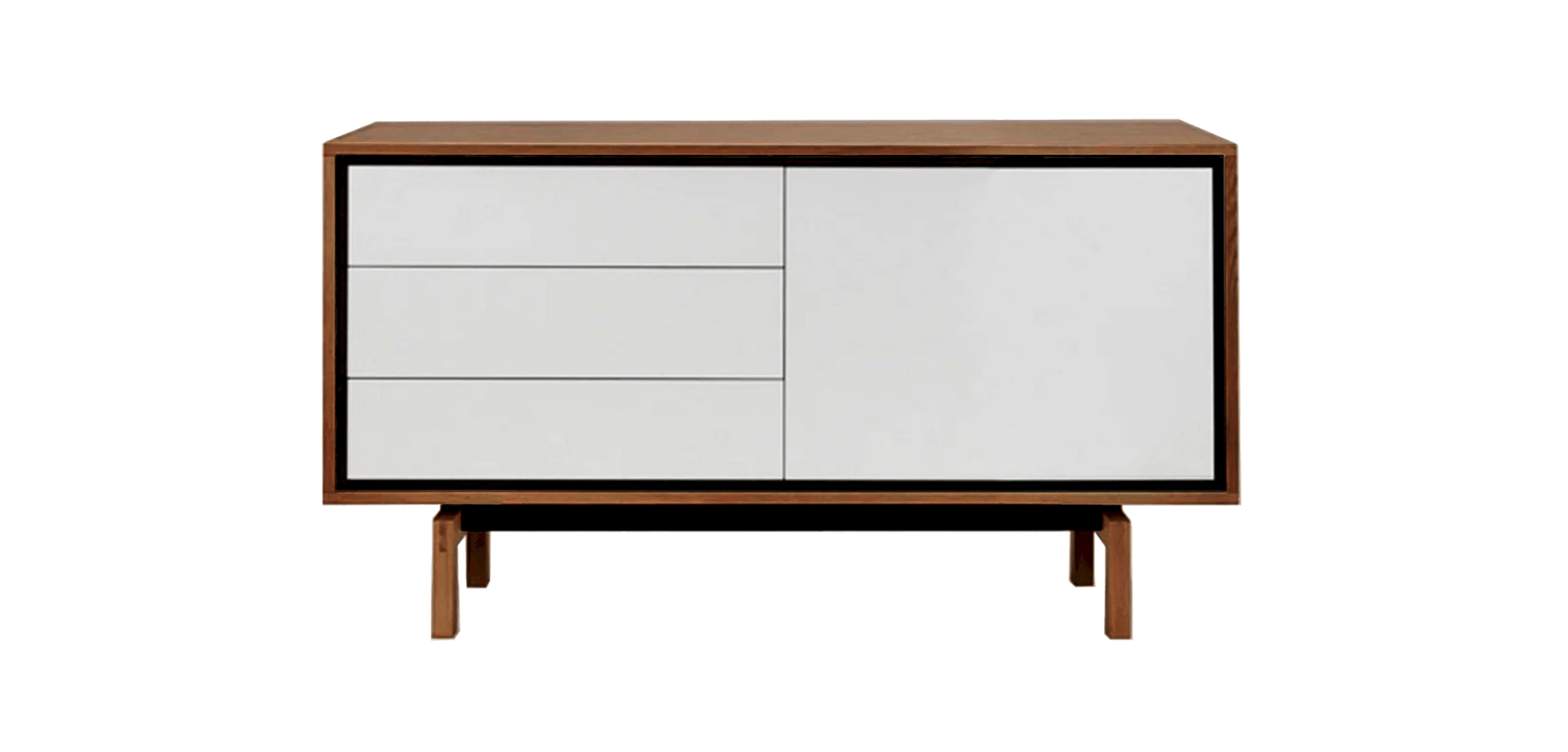 bolia floow sideboard walnut haute living