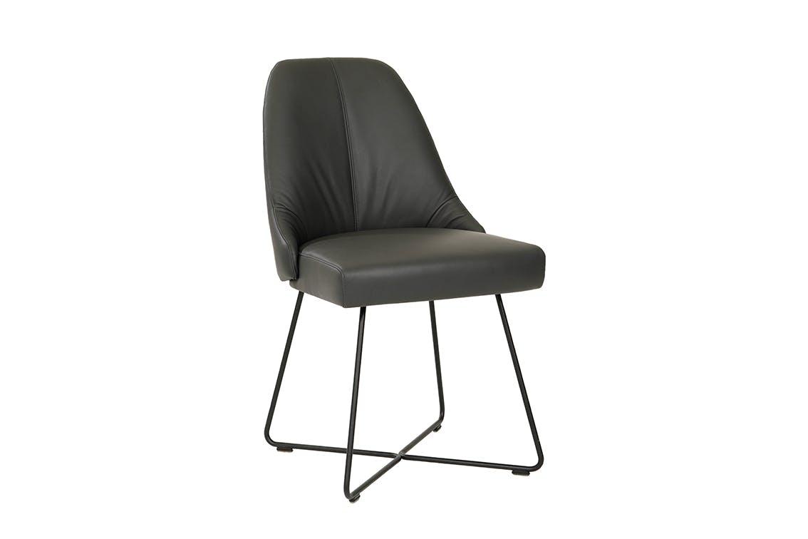 Jab Anstoetz Black Flow Dining Chair Angle Haute Living