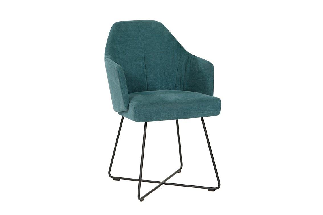 Jab Anstoetz Blue Suede Flow Dining Chair Haute Living