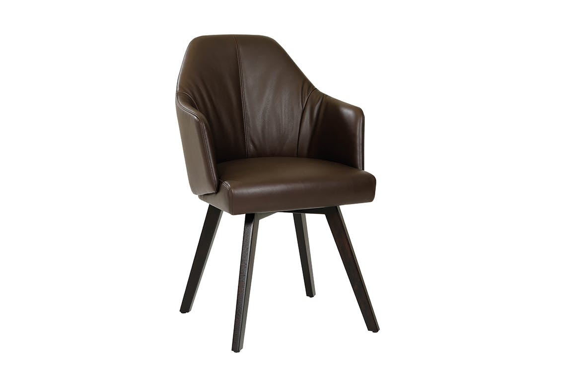 Jab Anstoetz Brown Leather Flow Dining Chair Haute Living