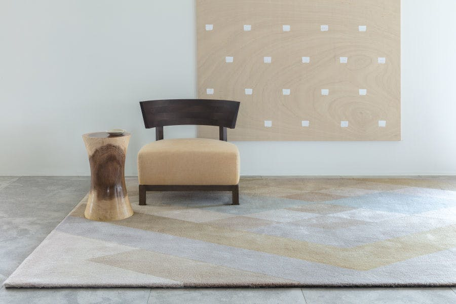 Limited Edition Rugs Flow Rug Latte Insitu Haute Living