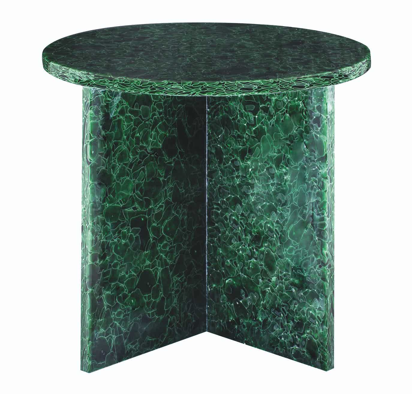 Pulpo font table round large green haute living