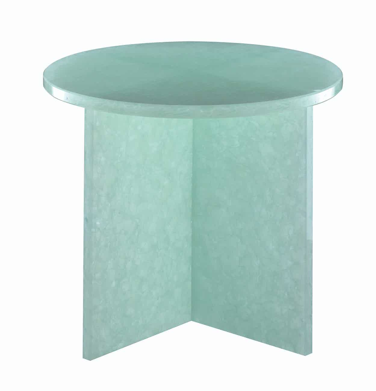Pulpo font table round small green haute living