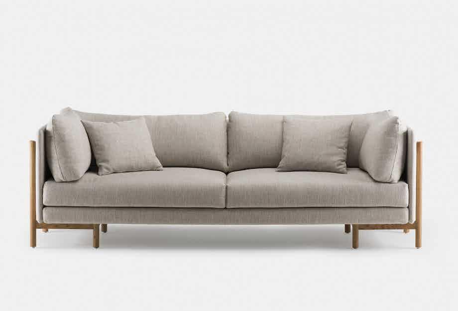 De La Espada Neri Hu Frame Medium Sofa Front Haute Living